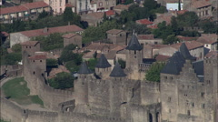 Carcassonne Castle Stock Footage