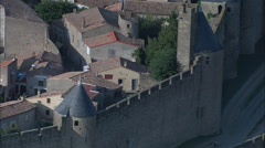 Carcassonne aerial Stock Footage