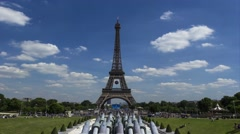 Paris, Eiffel Tower Timelapse, France, 4K UHDV movie (3840x2160) 25fps Stock Footage