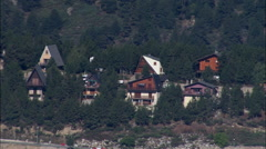 Lake Matemale And Les Angles Ski Resort Stock Footage