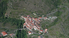 Mountain Villages In Pyrenees Stock Footage