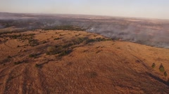 Barber County Fire - Aerial Medium Shot Stock Footage