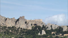 Peyrepertuse Castle Stock Footage