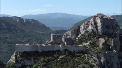 Peyrepertuse Castle Stock Footage