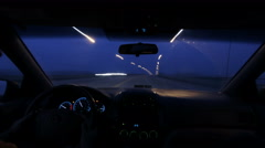 Time Lapse Night Drive Stock Footage