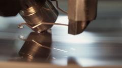 Extreme close up of a diamond polishing machine Stock Footage