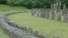 Sarmisegetusa Regia  Temple Ruins Stock Footage