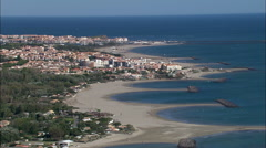 Agde aerial Stock Footage