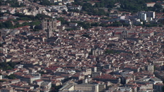 Montpellier aerial Stock Footage