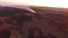 Barber County Fire - Wide Aerial Shot  Stock Footage
