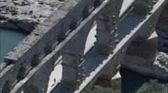 Pont Du Gard Stock Footage