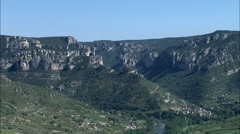 Mostuejouis And Gorges Du Tarn Stock Footage