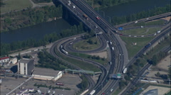 Lyon Roads From 1,500 Metres Stock Footage