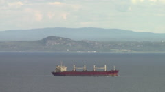Ship on St Lawrence silent Stock Footage