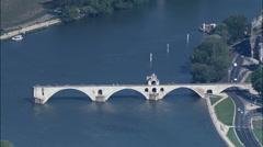 Pont Saint-Benezet Stock Footage