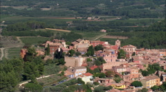 Roussillon aerial Stock Footage