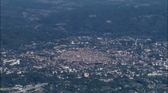 High Overhead Aix-En-Provence Stock Footage