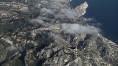 Above The Coulds Over Cote Du Cassis Stock Footage
