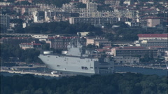 Toulon Naval Base From Edge Of Exclusion Zone Stock Footage