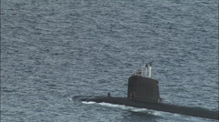 French Nuclear Submarine Entering Toulon Stock Footage