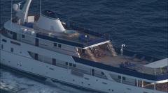 Private Motor Yacht Off Ile De Porquerolles Stock Footage