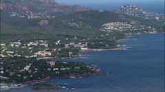 Coastline Between Saint-Raphael And Agay Stock Footage