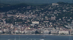 Cannes aerial Stock Footage