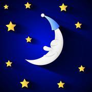 Moon and stars Stock Illustration