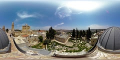 360VR timelapse panoramic video of the Abbey of the Dormition building Stock Footage