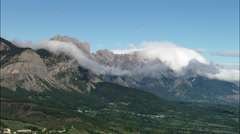 Mountains And Low Clouds Stock Footage