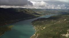 Lac De Monteynard-Avignonet And Windsurfer Stock Footage