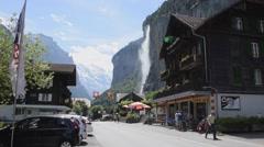 Lauterbrunnen waterfall Stock Footage