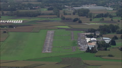 Landing At Grenoble-Le Versoud Airport Stock Footage