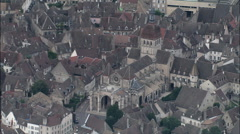 Beaune aerial Stock Footage