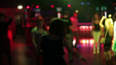 People dancing in night club background Stock Footage