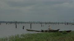 Africa Ghana tree lake wide 4k Stock Footage