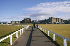 18th hole of St. Andrews Old Course Stock Photos