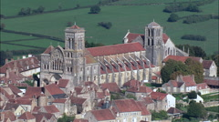 Vezelay Abbey Stock Footage