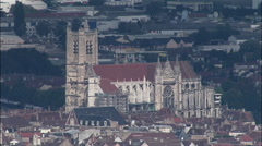Auxerre From A Distance Stock Footage