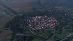 Neuf-Brisach And Citadel At Dusk Stock Footage