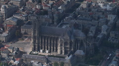 Reims Cathedral Stock Footage