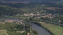 The Seine Near Moisson - stock footage