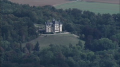 Chateau De Dampont Stock Footage