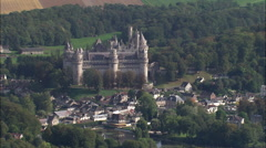 Chateau De Pierrefonds Stock Footage
