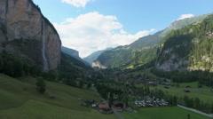 Lauterbrunnen valley - Switzerland Stock Footage