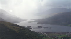 West Highland Loch Back Lit - stock footage