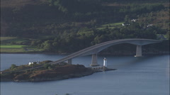 Skye Bridge, With Car Crossing Stock Footage