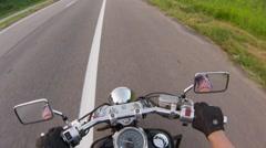 Handlebar motorcycle. Close up Stock Footage