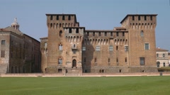 Saint George Castle in Mantua Stock Footage
