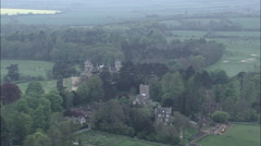 Approach To Mentmore House And View Of House And Grounds Stock Footage
